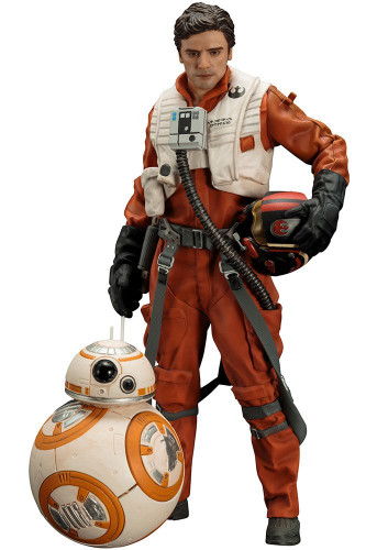Kotobukiya SW122 ARTFX+ Poe Dameron & BB-8 Set of 2 Figures (Star Wars The Force Awakens)