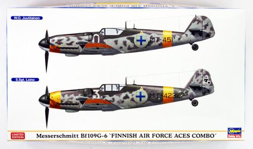 "Hasegawa 02259 Messerschmitt Bf109G-6 ""Finnish Air Force Aces Combo"" 1/72 scale kit"