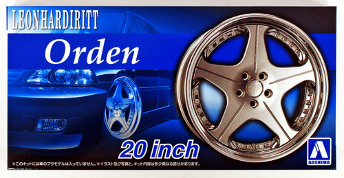 Aoshima 54642 Tuned Parts 73 1/24 Leonhardritt Orden 20 inch Tire & Wheel Set