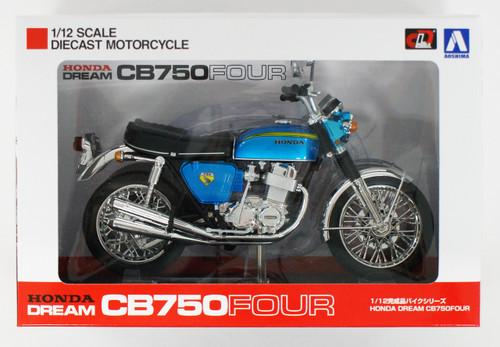Aoshima Skynet 04316 Honda CB750FOUR (K0) Candy Blue 1/12 Scale Finished Model