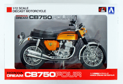 Aoshima Skynet 04309 Honda CB750FOUR (K0) Candy Gold 1/12 Scale Finished Model