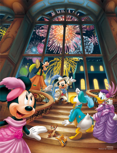 Yanoman Jigsaw Puzzle 42-45 Disney Fireworks Party (300 Small Pieces)