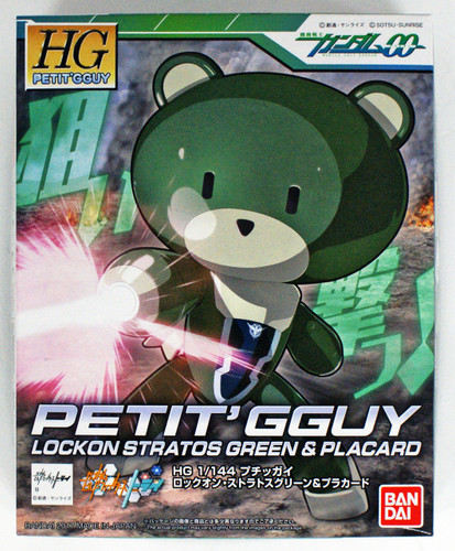 Bandai HG PETIT'GGUY 207078 LOCKON STRATOS GREEN & PLACARD 1/144 Scale Kit