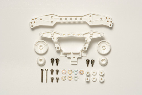 Tamiya 95381 Mini 4WD Rein Rear Double Roller Stay 3 Attachment Points/White