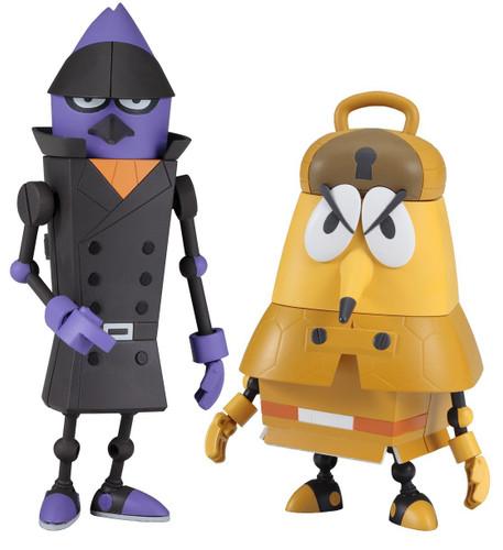 Bandai 244790 Pikachin Robot Clean Crow Duke & Detective Armadillo Sherlock Set