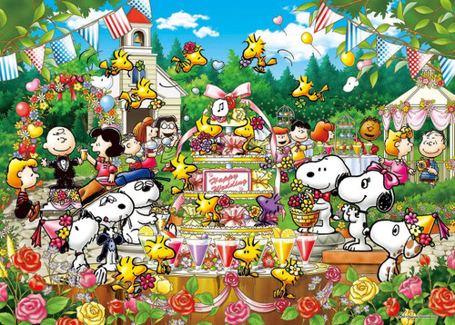 Epoch Jigsaw Puzzle 21-108 Peanuts Snoopy Woodstock Wedding (3000 S-Pieces)