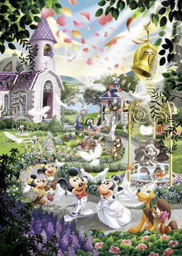 Tenyo Japan Jigsaw Puzzle DSG-500-402 Disney Mickey Mouse Wedding (500 Pieces)