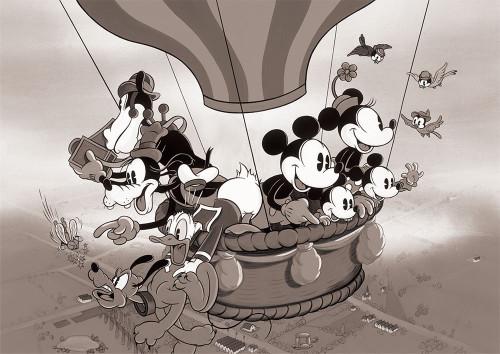 Tenyo Japan Jigsaw Puzzle D-108-810 Disney Balloon Flight Tour (108 Pieces)