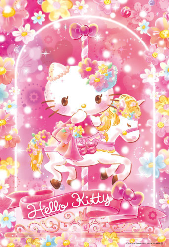 Beverly Jigsaw Puzzle 33-140 Hello Kitty Flower Floralium (300 Pieces)