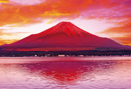 Beverly Jigsaw Puzzle 51-238 Japanese Scenery Reiho Red Mt. Fuji (1000 Pieces)