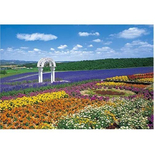 Epoch Jigsaw Puzzle 25-081S Flowers at Furano Japan (300 Pieces)