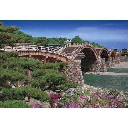 Epoch Jigsaw Puzzle 25-128 Kintaikyo Bridge Yamaguchi Japan (300 Pieces)