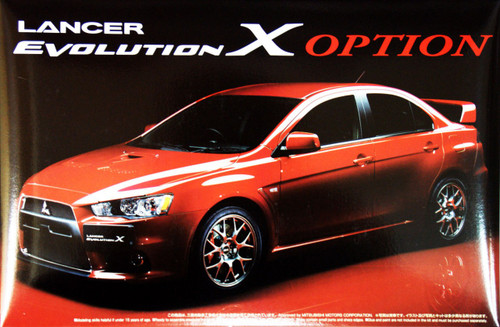 Aoshima 44919 Mitsubishi Lancer Evolution X Option 1/24 Scale Kit