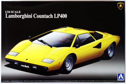 Aoshima 46708 Lamborghini Countach LP400 1/24 Scale Kit