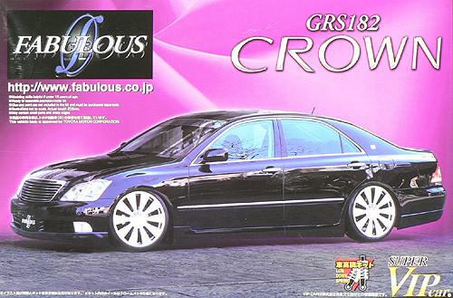 Aoshima 48122 Toyota Crown GRS182 Fabulous 1/24 Scale Kit
