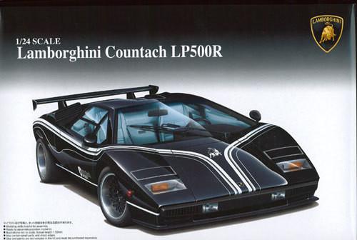 Aoshima 49617 Lamborghini Countach LP500R 1/24 Scale Kit