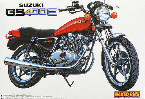Aoshima Naked Bike 11 42472 Suzuki GS400E 1/12 Scale Kit