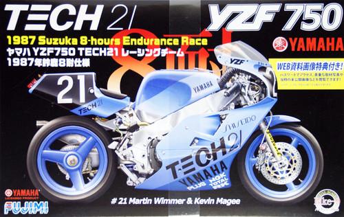 Fujimi Bike-09 Yamaha YZF750 TECH21 Racing Team 1987 Suzuka 8-hours Endurance Race 1/12 Scale Kit