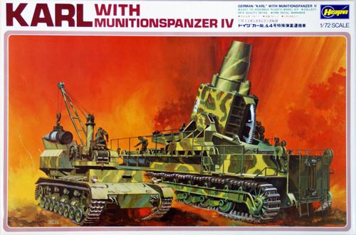 Hasegawa MB33 Gerat 040 60cm KARL with Munitionspanzer IV 1/72 Scale Kit