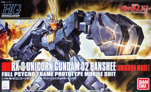 Bandai HGUC 135 Gundam RX-0 Unicorn Gundam 02 Banshee (Unicorn Mode) 1/144 Scale Kit