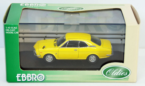 Ebbro 43415 Honda Coupe 9S 1970 (Air Cooled) (Yellow) 1/43 Scale