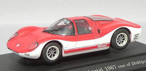 Ebbro 43553 Nissan R380II Speed Trial (Red/White) 1/43 Scale
