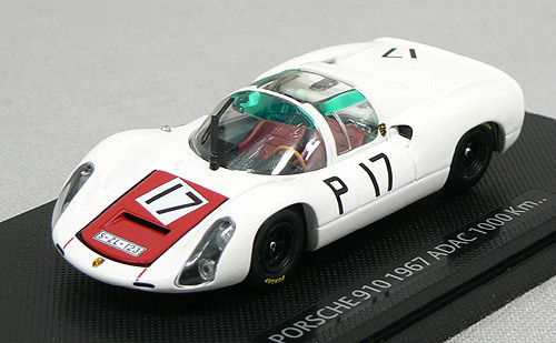 Ebbro 43640 Porsche 910 '68 Nurburgring 1000km Winner No.17 (White) 1/43 Scale