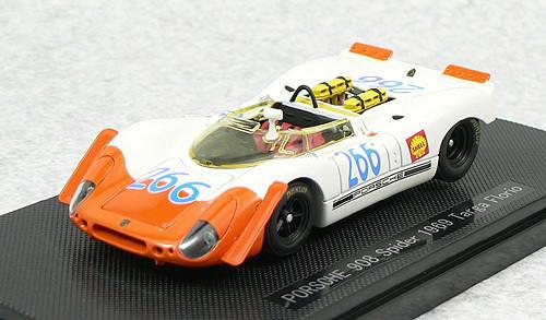 Ebbro 43729 Porsche 908 Spyder Targa Florio 1969 No.266 (White/Orange) 1/43 Scale