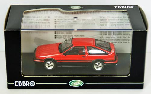 Ebbro 43819 TOYOTA SPRINTER TRUENO AE86 Red 1/43 Scale