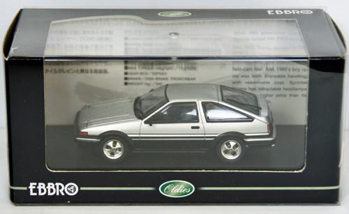 Ebbro 43820 TOYOTA SPRINTER TRUENO AE86 Silver 1/43 Scale