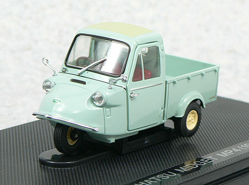 Ebbro 43854 Daihatsu Midget MP4 Three-wheel Truck 1959 (Green) 1/43 Scale