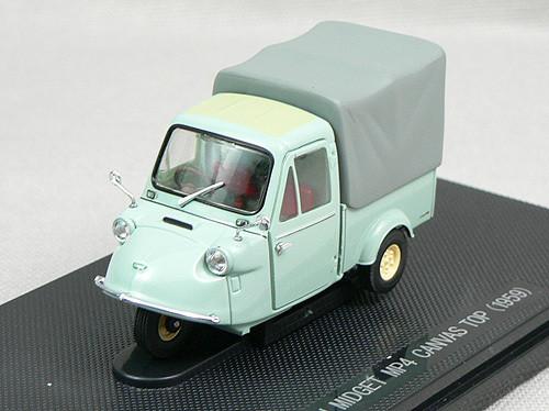 Ebbro 43855 Daihatsu Midget MP4 Canvas Top Truck 1959 (Green) 1/43 Scale