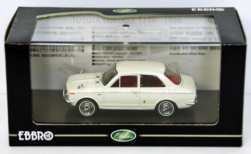 Ebbro 43893 TOYOTA COROLLA 110 1966 White 1/43 Scale