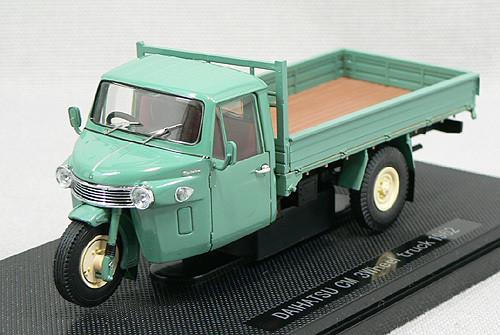 Ebbro 43931 Daihatsu CM Three-wheel Truck 1962 (Green) 1/43 Scale