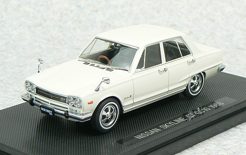 Ebbro 43936 NISSAN SKYLINE 2000GT GC10 1968 White 1/43 Scale
