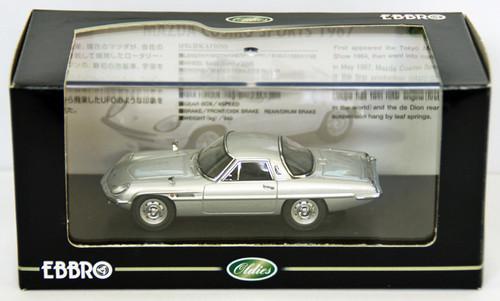 Ebbro 44029 Mazda Cosmo Sports 1967 (Silver) 1/43 Scale