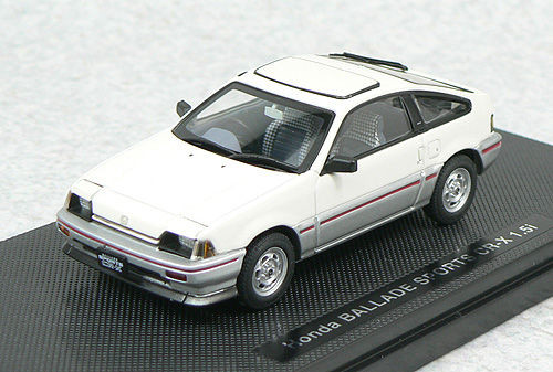 Ebbro 44116 HONDA BallADE SPORTS CR-X 1983 White 1/43 Scale