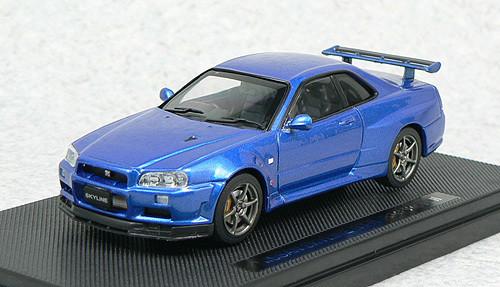 Ebbro 44148 NISSAN SKYLINE GT-R R34 Vspec Blue 1/43 Scale