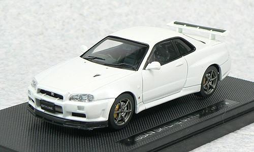 Ebbro 44149 NISSAN SKYLINE GT-R R34 Vspec White 1/43 Scale