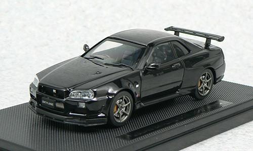 Ebbro 44151 NISSAN SKYLINE GT-R R34 Vspec Black 1/43 Scale