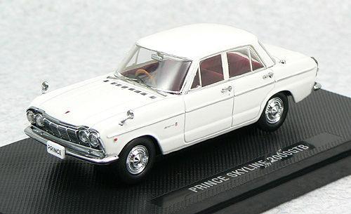 Ebbro 44236 PRINCE SKYLINE 2000GTB 1966 White 1/43 Scale