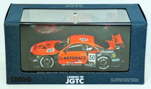 Ebbro 44254 Arata Skyline Jgtc 1998 Hdf (Orange/Black) 1/43 Scale