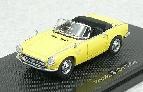 Ebbro 44268 Honda S800 1966 Yellow 1/43 Scale