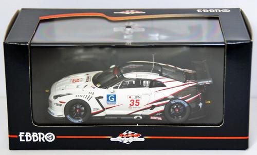 Ebbro 44305 NISSAN GT-R GT1 2009 SilverstOne 1/43 Scale