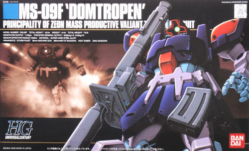 Bandai HGUC 017 Gundam MS-09F DOMTROPEN 1/144  Scale Kit