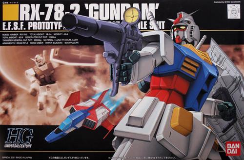 Bandai HGUC 021 Gundam RX-78-2 EFSF PROTOTYPE 1/144 Scale Kit