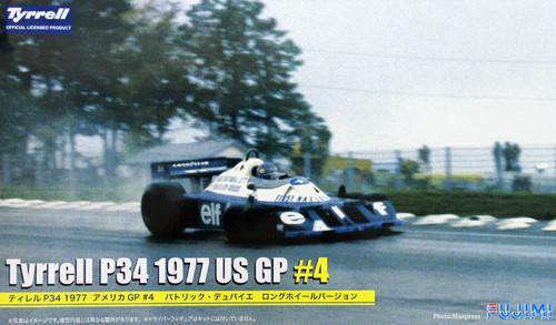Fujimi GP40 090986 F1 Tyrrell P34 1977 US GP #4 Long Wheel Version 1/20 Scale Kit