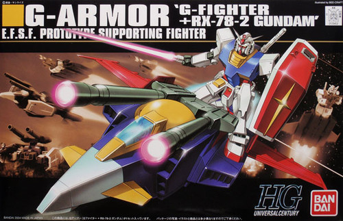 Bandai HGUC 050 Gundam G-ARMOR G-FIGHTER+RX-78-2 1/144 Scale Kit