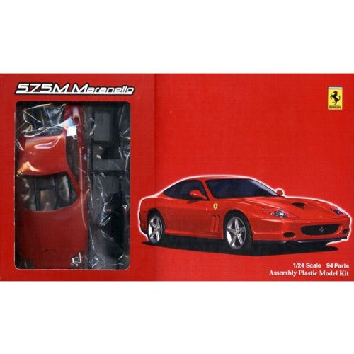 Fujimi FR-02 Ferrari 575M Maranello with Grade-Up Parts 1/24 Scale Kit
