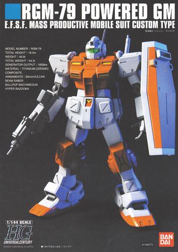 Bandai HGUC 067 Gundam RGM-79 POWERED GM 1/144 Scale Kit